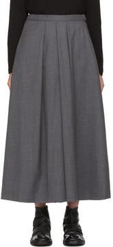 Blue Blue Japan Grey Wool Skirt Trousers