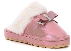 MICHAEL Michael Kors Girls' Grace Bow Slippers