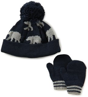 Starting Out Baby Boys Polar-Bear Knit Hat & Mittens Set