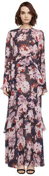 BCBGMAXAZRIA Margot Watercolor Mums Gown