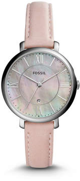 Fossil Jacqueline Three-Hand Date Blush Leather Watch