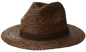 San Diego Hat Company Raffia Braid w/ Grosgrain Fedora Caps