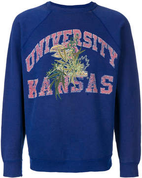 Creatures of the Wind leaf embroidered sweatshirt