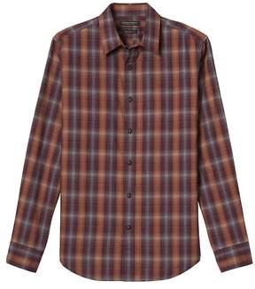 Banana Republic Grant Slim-Fit Plaid Flannel Shirt