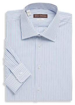 Hickey Freeman Striped Cotton Dress Shirt