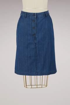 A.P.C. Lois denim skirt