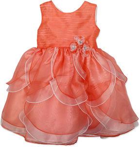 Nanette Baby Sleeveless Party Dress - Preschool Girls