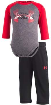 Under Armour Baby Boy Raglan Bodysuit & Pants Set
