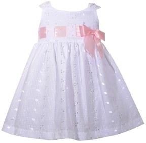 Bonnie Jean Baby Girl Eyelet Bow Dress