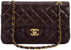 One Kings Lane Vintage Chanel Brown Classic Double-Flap Bag - Vintage Lux