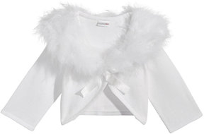 Sweet Heart Rose Marabou-Trim Shrug, Big Girls (7-16)