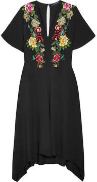 Etro Embroidered Crepe Dress - Black