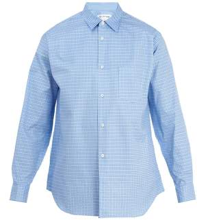 Comme des Garcons Raw-edge detailed checked cotton-poplin shirt