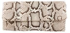 Carlos Falchi Python Flap Clutch