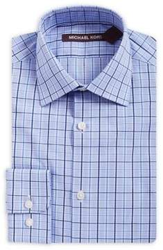 Michael Kors Boy's Checkered Cotton Collared Shirt