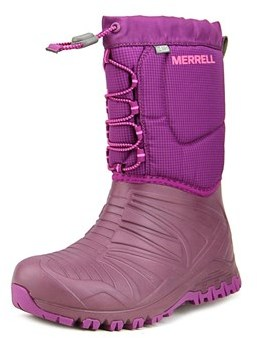 Merrell Snow Quest Round Toe Synthetic Winter Boot.