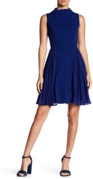 Betsey Johnson Sleeveless Pleated Panel Dress