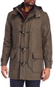 Nautica Hooded Toggle Wool-Blend Coat