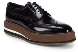 Prada Platform Leather Brogues