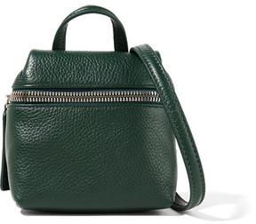 KARA - Micro Textured-leather Shoulder Bag - Forest green