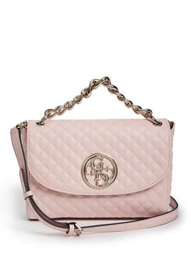 GUESS G Lux Quilted Flap Crossbody
