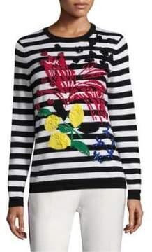Escada Striped Wool Knit Pullover