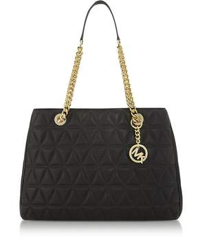 Michael Kors Scarlett Large Black Quilted Leather Tote Bag - BLACK - STYLE
