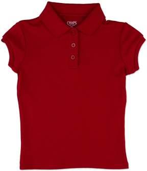 Chaps Girls 4-6x Picot School Uniform Polo