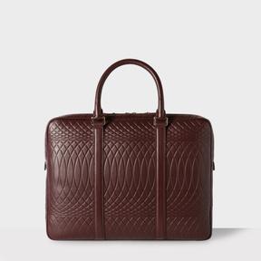 Paul Smith No.9 - Damson Leather Slim Business Folio