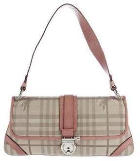 Burberry Leather-Trimmed Horseferry Check Bag - BROWN - STYLE