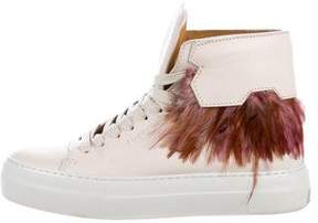 Buscemi 100MM New Button High-Top Sneakers