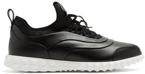 Valentino Low-top leather and neoprene trainers
