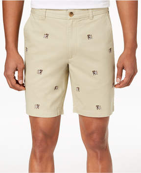 Club Room Men's Bulldog Embroidered 9 Shorts, Created for Macy's