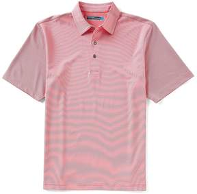 Roundtree & Yorke Performance Short-Sleeve Mini Stripe Polo