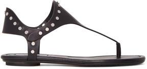 Jimmy Choo Black Studded Dara Sandals