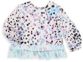 Roberto Cavalli Baby's Polka-Dot Ruffle Top