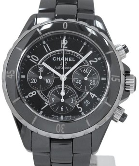 Chanel J12 Chronograph Stainless Steel with Black Dial Automatic 41mm Mens Watch