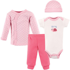Luvable Friends White & Pink 'Little Lady' Bodysuit Set - Newborn