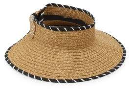 San Diego Hat Company Stripe-Trim Roll-Up Visor