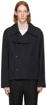 Lemaire Navy Double-Breasted Jacket