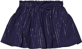 Emile et Ida Navy Skirt with Silver Stripes