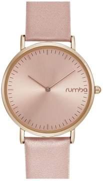 RumbaTime SoHo Rosetone Dial Blush Pink Leather Strap Watch