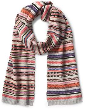 Gap Crazy fair isle scarf