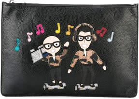 Dolce & Gabbana musical patch clutch