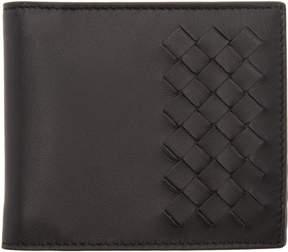 Bottega Veneta Black Partial Intrecciato Wallet