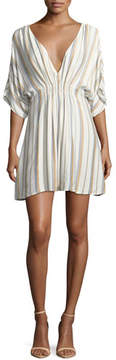 Onia Alessandra Plunging Striped Coverup Dress