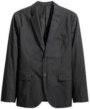 H&M Cotton Poplin Blazer