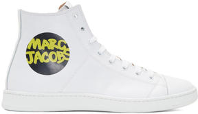 Marc Jacobs White Logo High-Top Sneakers