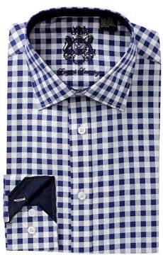 English Laundry Gingham Trim Fit Dress Shirt