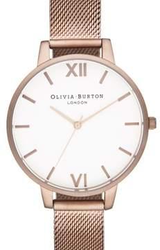 Olivia Burton Women's 'Big Dial' Mesh Strap Watch, 38Mm